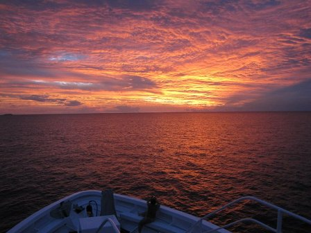 Sunset on the bow 130