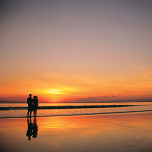 Couple at Sunset on Cable Beach