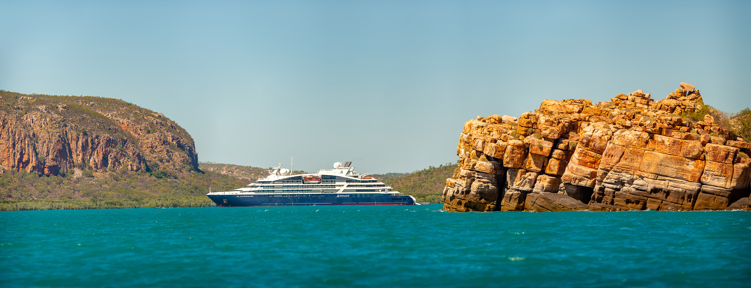 HERO PONANT U1A9099 Pano Edit R120719 Broome Darwin Kimberley Emblématique C Ponant Nick Rains