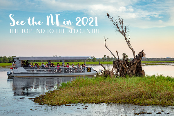 MC Header See NT in 2021 123023 Boat cruise on the Billabong Mandatory credit Tourism NT Michael Costa