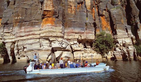 NEW WEBSITE Gallery Darngku Heritage Cruises 0006 Geikie Gorge Geikie Gorge National Park Mandatory credit Tourism We