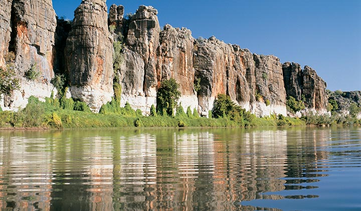 NEW WEBSITE Gallery Darngku Heritage Cruises 0007 Geikie Gorge and Fitzroy River Mandatory credit Tourism Western Aust