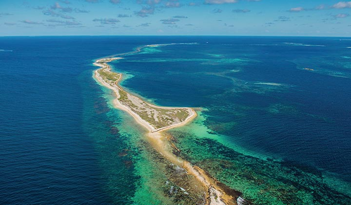 NEW WEBSITE Gallery Eco Abrolhos Islands 0002 Abrolhos Is aerial cr ACC