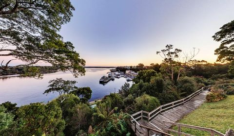 NEW WEBSITE Gallery InnKeepers Strahan Village 0014 View of Strahan from hilltop 3