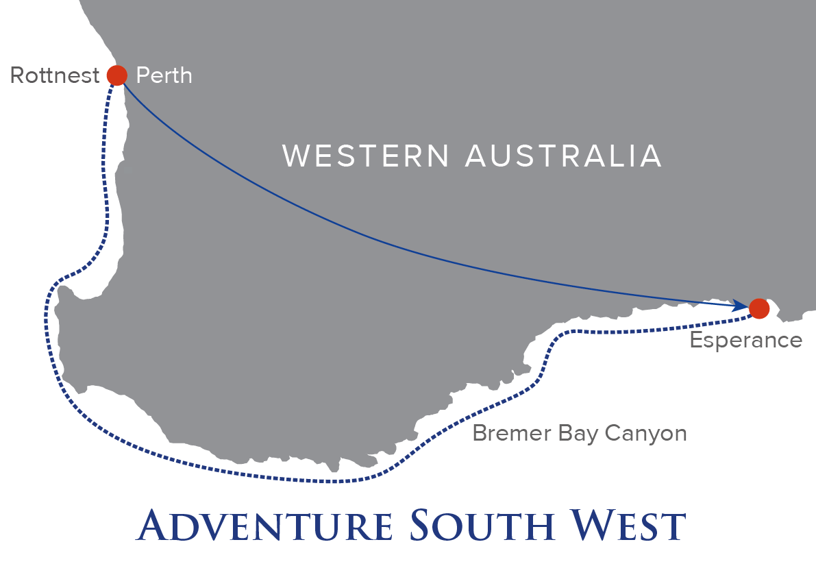 7 Night Adventure South West Map