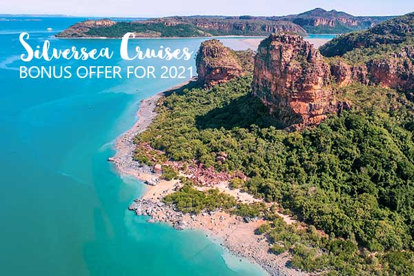 MC Header EX10010 Aerial view of the Hunter River Kimberley Credit Silversea and Bruno Cazarini
