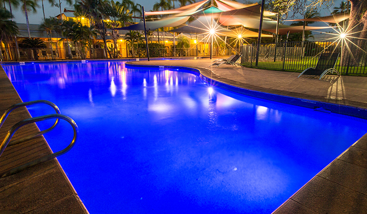 NEW WEB Gallery The Continental 0001 Mercure Broome 1817 Big swimming pool evening